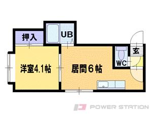 札幌市中央区南3条西22丁目0賃貸アパート間取図面