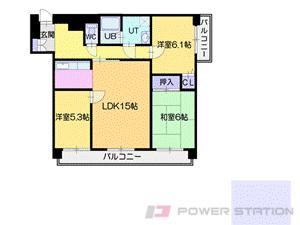 西18丁目3LDK分譲リースマンション図面