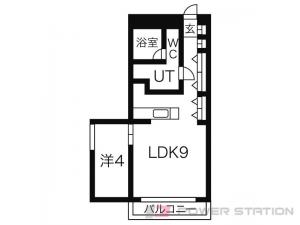 札幌市中央区大通西21丁目1賃貸マンション間取図面