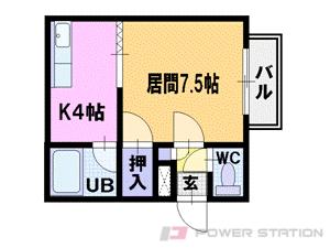 札幌市中央区南2条西22丁目0賃貸マンション間取図面