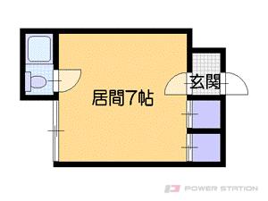札幌市中央区南4条西20丁目0賃貸アパート間取図面