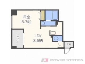札幌市中央区大通西20丁目0賃貸マンション間取図面