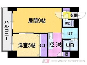札幌市中央区大通西15丁目0分譲リースマンション間取図面