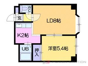 札幌市中央区南4条西13丁目0賃貸マンション間取図面