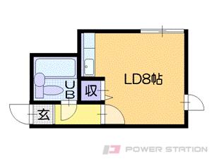 札幌市中央区南4条西14丁目0分譲リースマンション間取図面