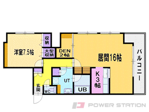 札幌市中央区大通西13丁目1賃貸マンション間取図面