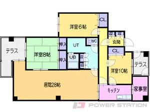 資生館小学校前3LDKマンション図面