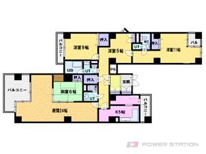 資生館小学校前4LDKマンション図面