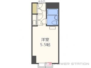 西11丁目1R分譲リースマンション図面