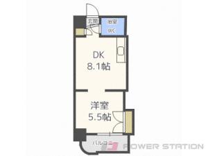 札幌市中央区南4条東2丁目0賃貸マンション間取図面