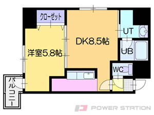 札幌市中央区南5条東2丁目0賃貸マンション間取図面
