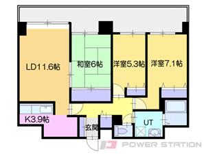 バスセンター前3LDKマンション図面