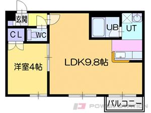札幌市中央区南6条東2丁目0分譲リースマンション間取図面