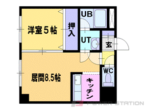 札幌市中央区南3条西27丁目0賃貸マンション間取図面