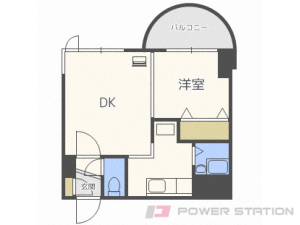 札幌市中央区南6条西26丁目1賃貸マンション間取図面