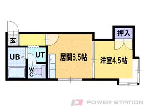札幌市中央区南3条西24丁目0賃貸アパート間取図面