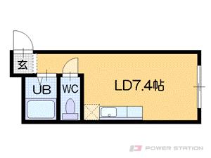 札幌市中央区南4条西23丁目0賃貸マンション間取図面