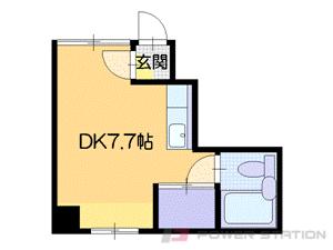 札幌市中央区南6条西23丁目0賃貸アパート間取図面