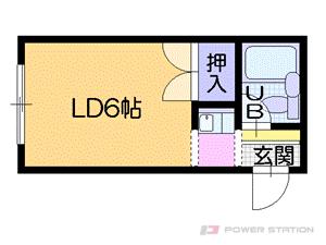 札幌市中央区南5条西25丁目0賃貸マンション間取図面