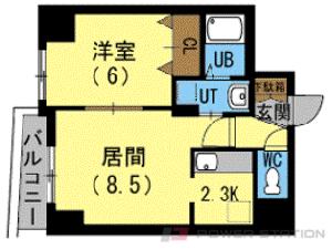 札幌市中央区南6条西26丁目0賃貸マンション間取図面