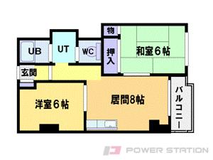 札幌市中央区南6条西25丁目0賃貸マンション間取図面
