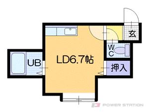 札幌市中央区南4条西22丁目0賃貸アパート間取図面