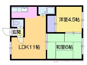札幌市中央区南5条西18丁目0賃貸アパート間取図面
