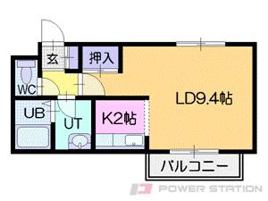 札幌市中央区南5条西21丁目0賃貸マンション間取図面