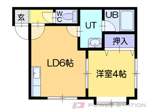 札幌市中央区南6条西22丁目0賃貸アパート間取図面