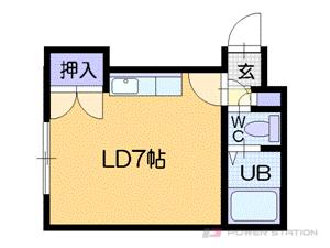 札幌市中央区南5条西16丁目0賃貸アパート間取図面