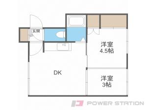 札幌市中央区南5条西17丁目0賃貸アパート間取図面