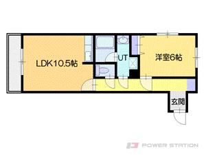 札幌市中央区南6条西16丁目0賃貸マンション間取図面