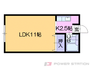 札幌市中央区南6条西18丁目0賃貸マンション間取図面