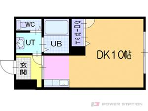 西18丁目1Kアパート図面