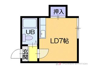 札幌市中央区南4条西15丁目1賃貸アパート間取図面