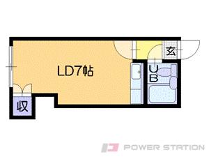 西11丁目1Rマンション図面