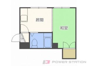 西線6条1DKアパート図面