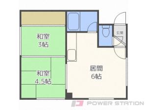 札幌市中央区南5条西14丁目0賃貸アパート間取図面