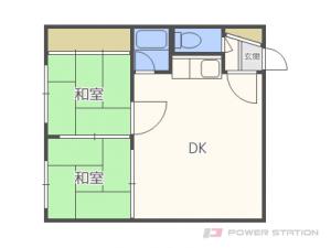 札幌市中央区南6条西14丁目0賃貸アパート間取図面