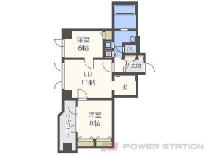 西線6条2LDKマンション図面