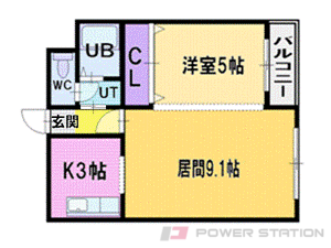 札幌市中央区南6条西13丁目0賃貸マンション間取図面