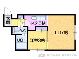 札幌市中央区南6条西11丁目0賃貸マンション間取図面