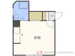 札幌市中央区南7条西12丁目1賃貸アパート間取図面