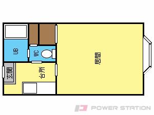 西線6条1Kマンション図面
