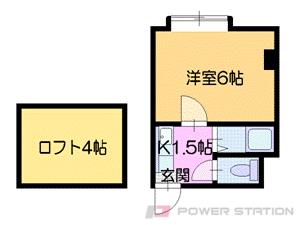 札幌市中央区南8条西13丁目0賃貸マンション間取図面