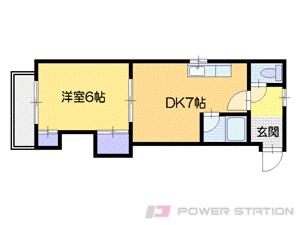 札幌市中央区南5条西9丁目1賃貸マンション間取図面