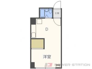 札幌市中央区南5条西9丁目0賃貸マンション間取図面
