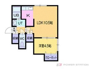 札幌市中央区南5条西9丁目1賃貸アパート間取図面