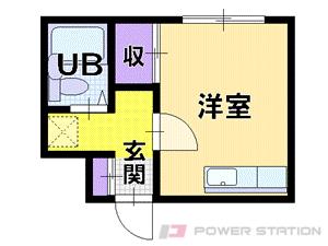 札幌市中央区南8条西9丁目0賃貸アパート間取図面