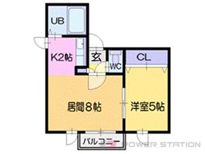 札幌市中央区南8条西9丁目1賃貸マンション間取図面